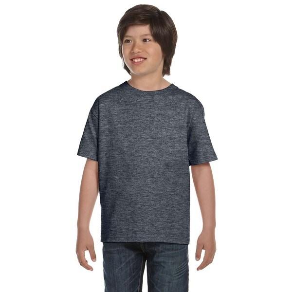 Gildan Boys' Dark Heather Dryblend T-shirt