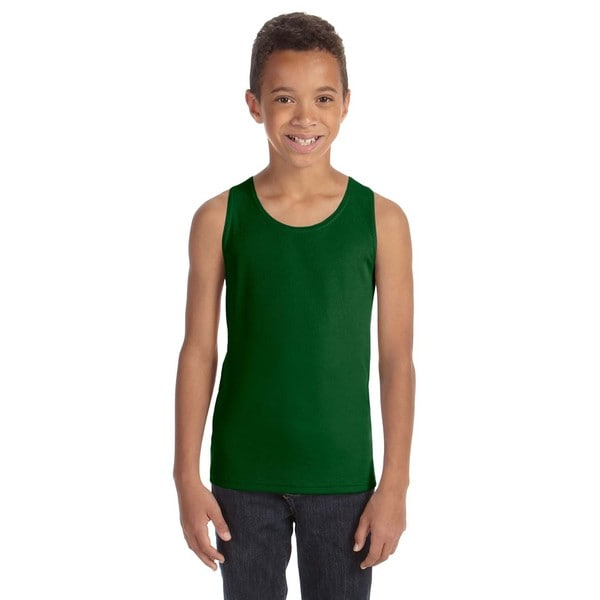 For Team Boys' 365 Forest Polyester Mesh Sport Tank