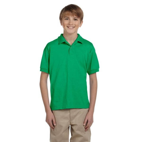 Boys Green Dryblend Jersey Polo Shirt