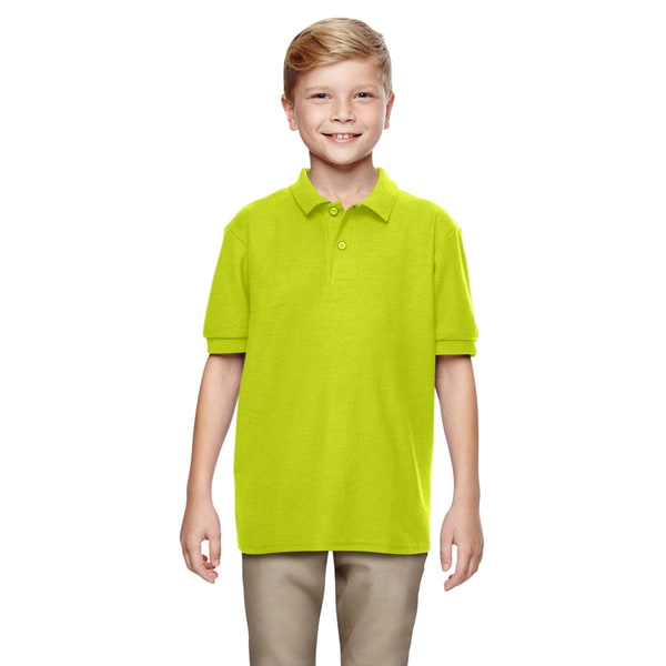 Dryblend Boys' Double Pique Safety Green Polo Shirt