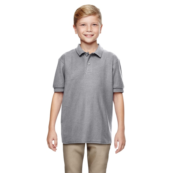 Gildan Boys' Sport Grey DryBlend Double Pique Polo Shirt