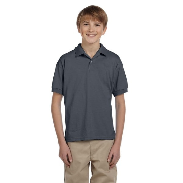 Dryblend Boys' Dark Heather Jersey Polo Shirt