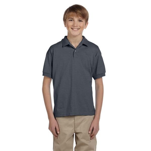 Dryblend Boys' Dark Heather Jersey Polo Shirt