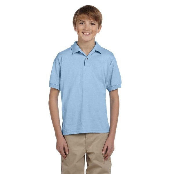 Dryblend Boys' Light Blue Jersey Polo Shirt