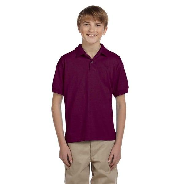 Dryblend Boys' Maroon Jersey Polo Shirt