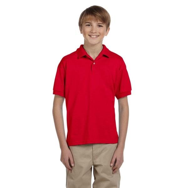Dryblend Boys' Red Jersey Polo Shirt