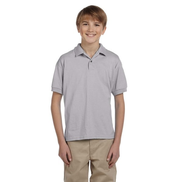 Dryblend Boys' Grey Jersey Polo Sport Shirt