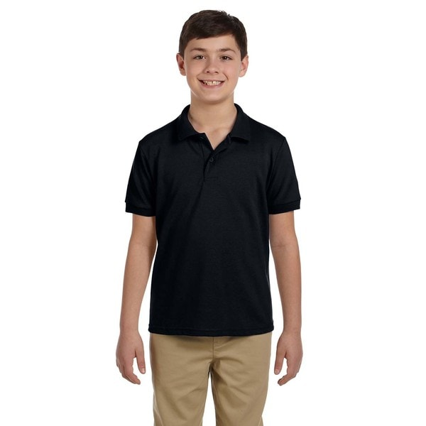 Dryblend Boys Black Pique Polo Shirt