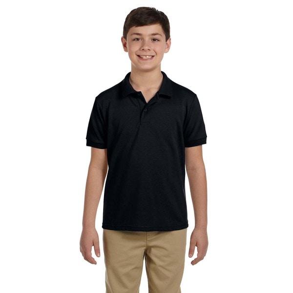 Dryblend Boys Black Pique Polo Shirt