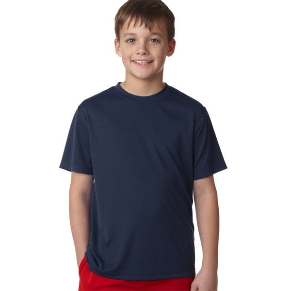 Hanes Navy Cool Dri Youth T-shirt