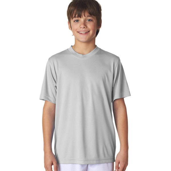 Cool & Dry Sport Boys' Grey Performance Interlock T-shirt