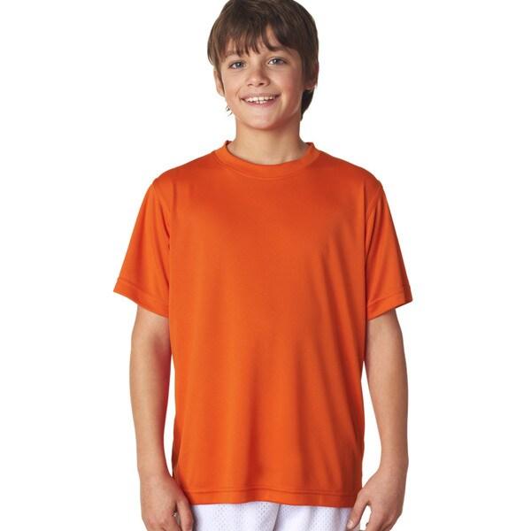 Cool & Dry Boys' Orange Sport Performance Interlock T-shirt