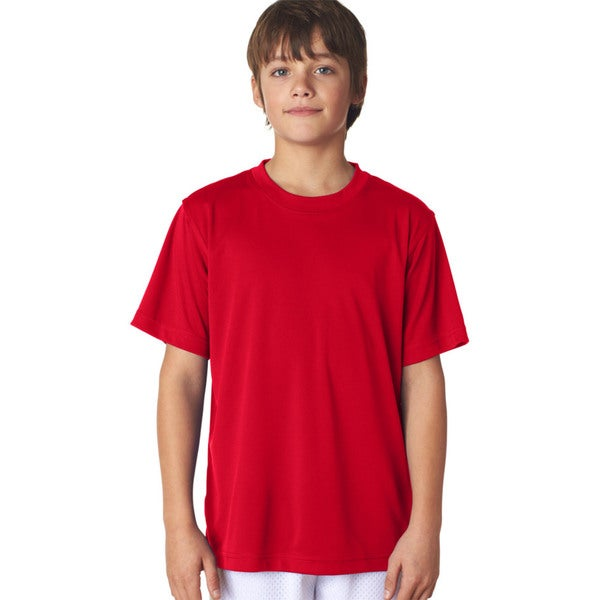 Cool & Dry Sport Boys' Red Performance Interlock T-Shirt