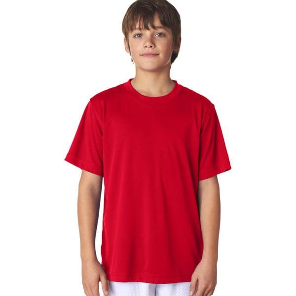 Cool & Dry Sport Boys' Red Performance Interlock T-Shirt