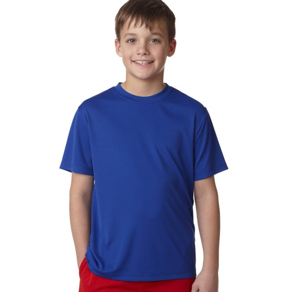 Hanes Youth Deep Royal Cool Dri Cotton T-shirt