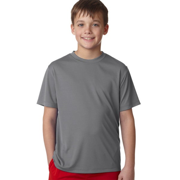 Hanes Cool Dri Boys' Graphite Cotton T-shirt