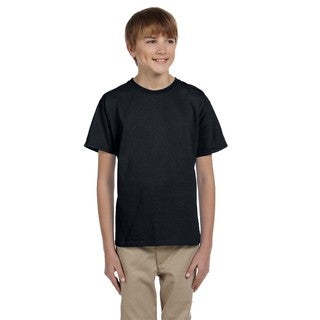 Comfortblend Boys' Ecosmart Black Cotton/Polyester Crewneck T-Shirt