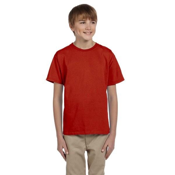Boys Comfortblend Red Ecosmart Crewneck T-shirt