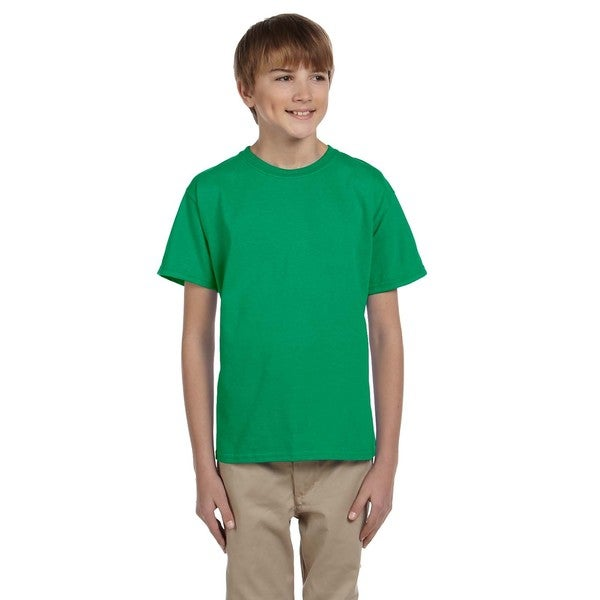 Boys Comfortblend Green Ecosmart Crewneck T-shirt