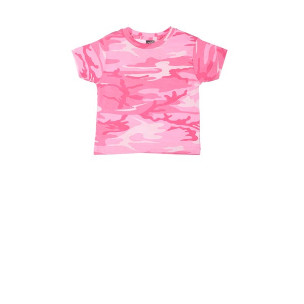Girls Pink Woodland Camouflage T-shirt