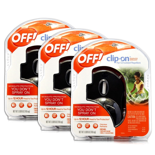 Off! Clip-on Mosquito Repellent Fan (Pack of 3)