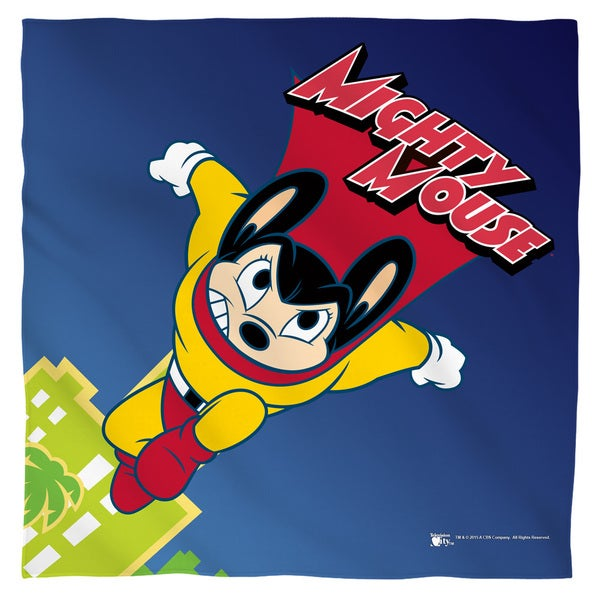 Mighty Mouse/City Watch Polyester Bandana