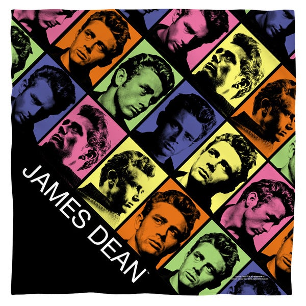 James Dean/Color Block Polyester Bandana 19792567