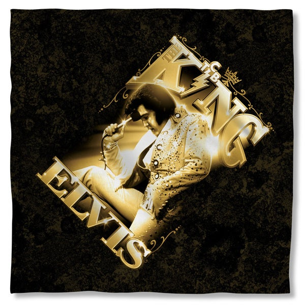 Elvis/The King Polyester Bandana