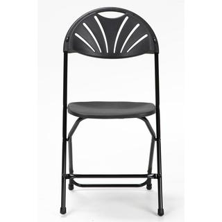 COSCO Commercial Heavy Duty, Injection Mold Fan Back, Black Folding Chair with Comfortable Contoured Back