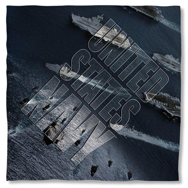 Navy/Fleet Polyester Bandana