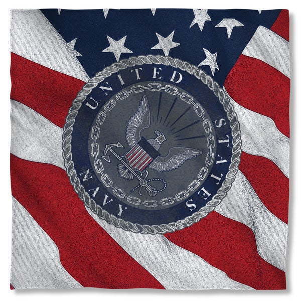 Navy/Flag Seal Polyester Bandana