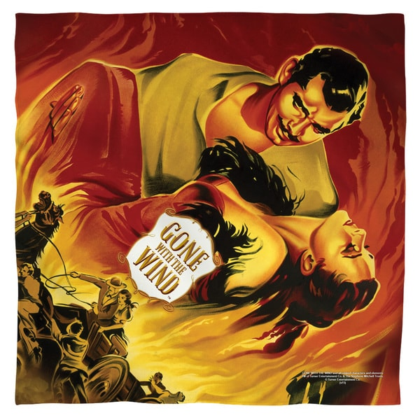 Gone With The Wind/Fire Poster Polyester Bandana