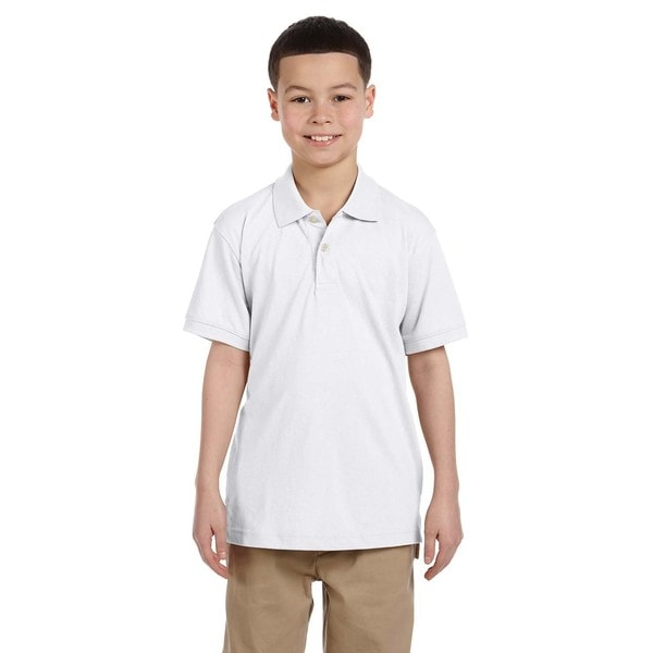 Boys' Easy Blend White Polo