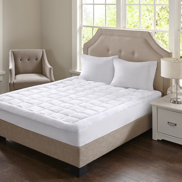 Madison Park Heavenly Soft Overfilled Plush and Waterproof Mattress Pad