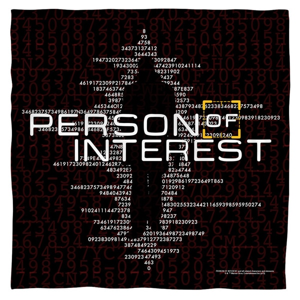 Person Of Interest/Numbers Polyester Bandana
