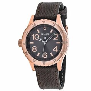 Nixon Women's A467-2214 38-20 Round Grey dial Leather strap Watch