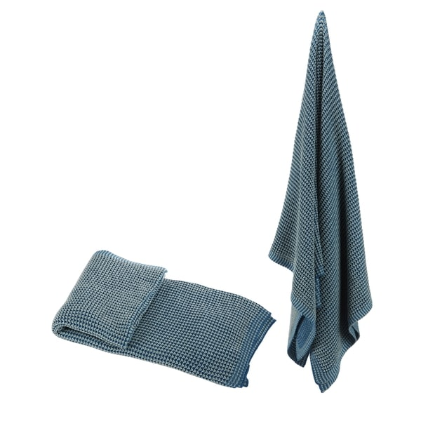 100-percent Cotton Blue Throw