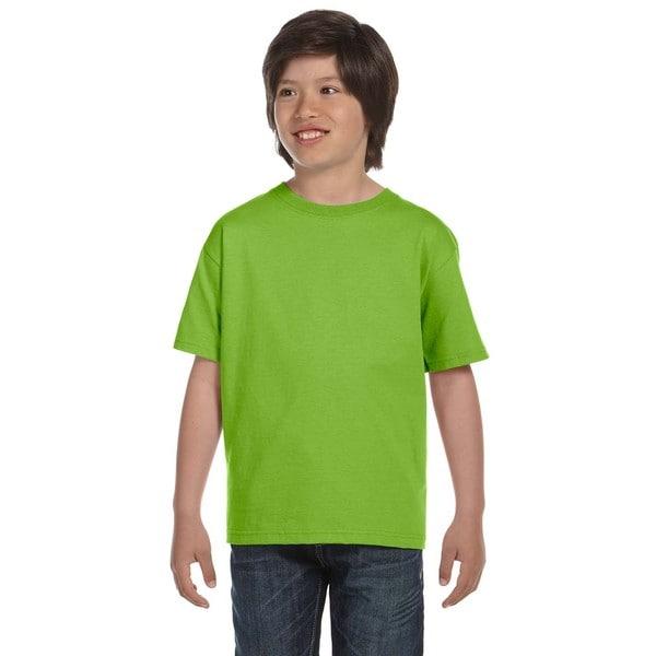 Hanes Boys Lime T-shirt