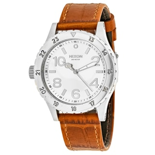 Nixon Women's A467-1888 38-20 Round Silver dial Leather strap Watch