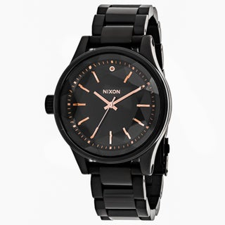 Nixon Women's A409-957 Facet 38 Round Black dial Stainsless steel Bracelet Watch