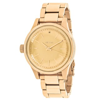 Nixon Women's A409-502 Facet 38 Round Gold dial Stainsless steel Bracelet Watch