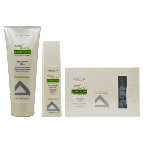 Alfaparf Semi Di Lino Reconstruction Treatment 3-Piece Haircare Sets