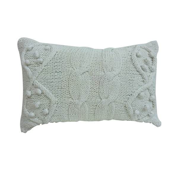 14-inch x 20-inch Twisted-Cable Knit Throw Pillow