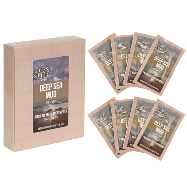 Jean Pierre Pure and Simple Deep Sea Mud Purifying Wash-off Mask Treatments (Pack of 8)