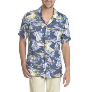 Caribbean Joe Men's Short-sleeve Convertible Button-down Shirt