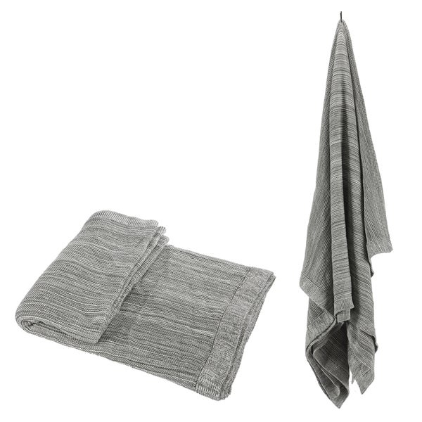 100-percent Cotton Grey Throw
