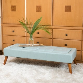 Williams Tufted Fabric Ottoman Bench by Christopher Knight Home