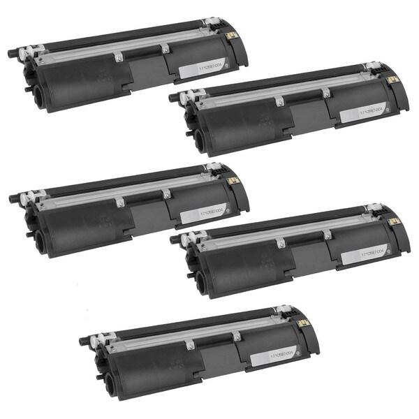 5PK Compatible QMS 2500 BK Toner Cartridge For Konica Minolta QMS Color Magicolor 2500W , 2530DL , 2550 ( Pack of 5 )zzzzz