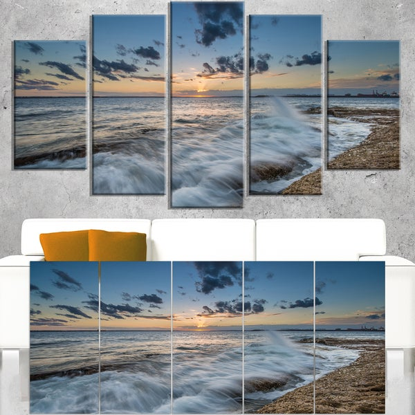 Sydney Sunset at La Per House - Seashore Canvas Wall Artwork