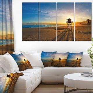 Colorful Sunset in Valencia - Modern Beach Canvas Art Print